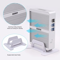 quad core new design intel celeron N3150 high performance fanless desktop mini pc 12v htpc