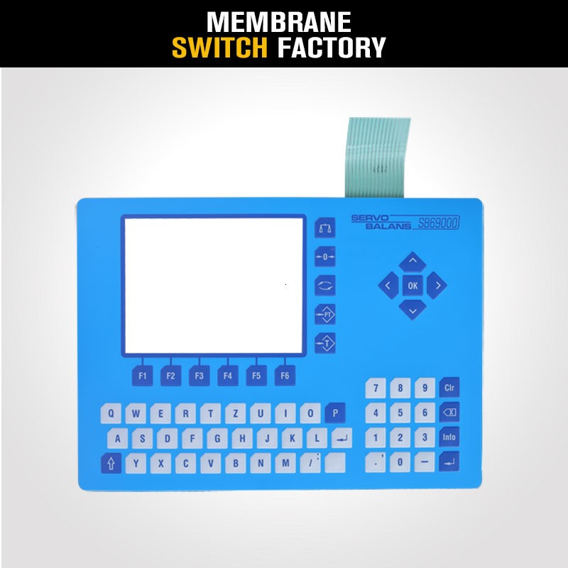 wholesale customized remote control matte membrane switch keyboard