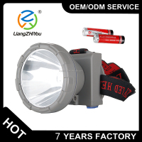 LCD display most power long range headlamp torch , 10W T6 led rechargeable hunting headlight