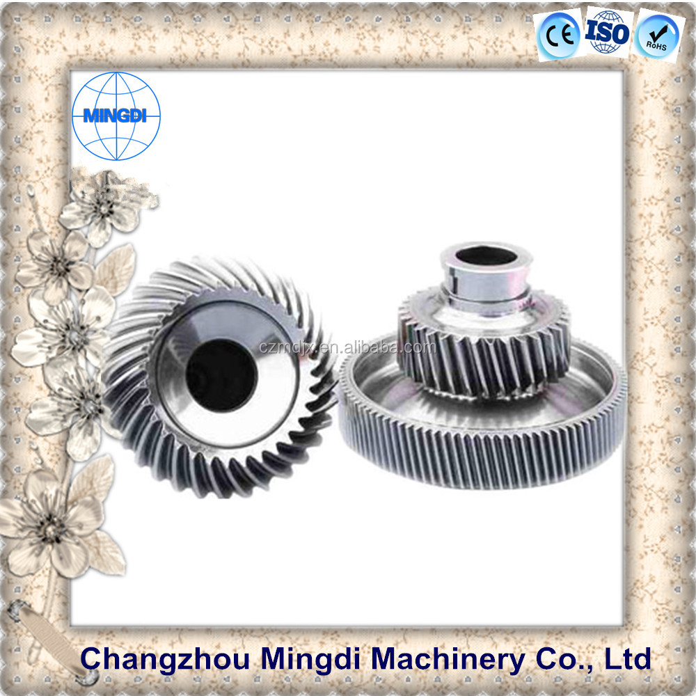 motorcycle wheels / differential gears Steel Spiral Bevel Gear / Transmission Parts for hand seeder