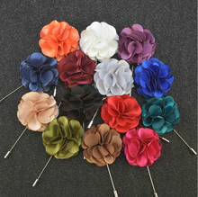 Fashion Style Colorful Fabric Flower Lapel Pin For Clothes