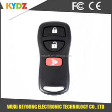 3 button keyless entry remote key shell / case / cover with battery and electronic components inside compatible with Nissan