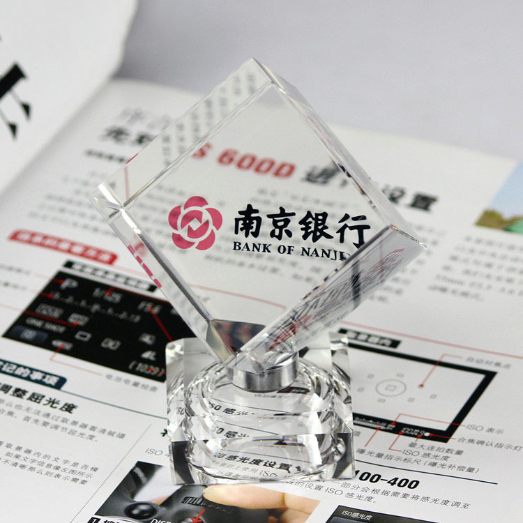 Wholesales blank K9 crystal cube for 3d laser surface engraving crystal manufacture supplier