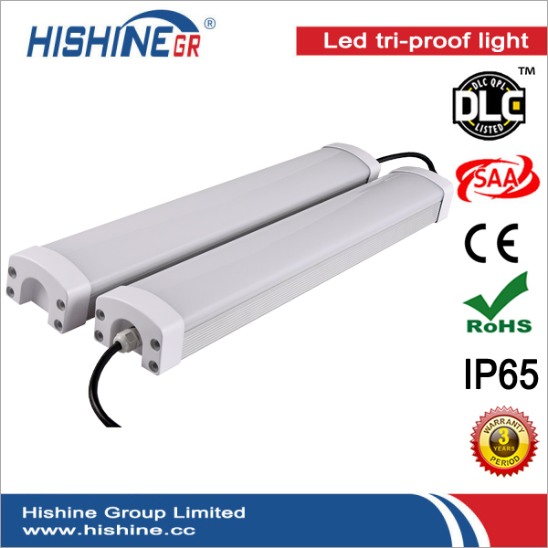 IP65 40w waterproof led luminaires 4ft CE&RoHS Certificated