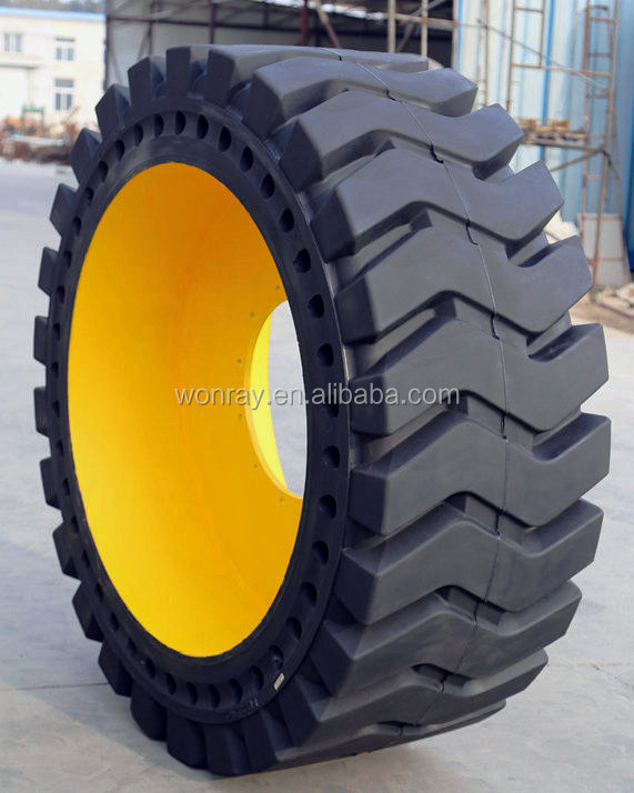 skid steer loader Backhoe Excavator Dumper Solid Tires 17.5-25 20.5-25 23.5-25 26.5-25 With Rims used in the rubbish tip