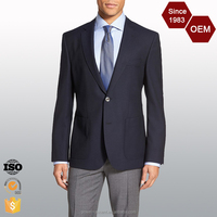 2016 New design Casual Men Slim Fit Business Suit Long Sleeve Formal Blazers