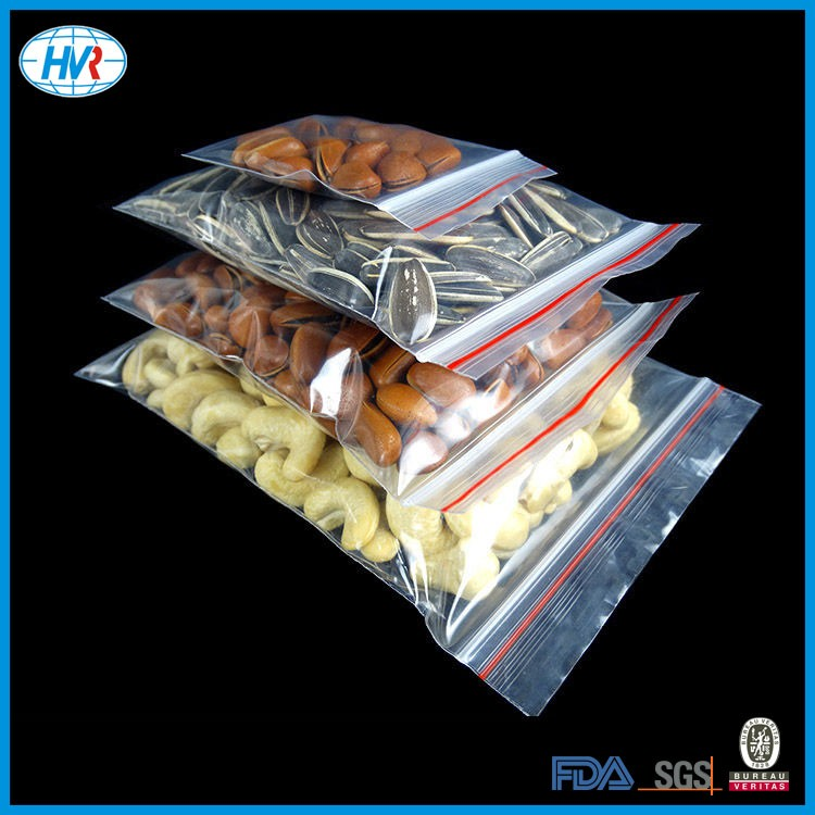 Custom printed airtight resealable packing stand up plastic zipper bag