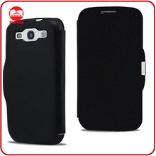 Deluxe Black Book Style Ultra Thin Slim Folio Magnetic Flip Case for Samsung Galaxy S3 I9300