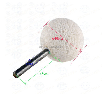 Diamond coated 45mm spherical head monuted points grinding bit round ball