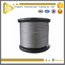 6x7+FC 4.0mm Steel Wire Cable for Winch in Wooden Reel
