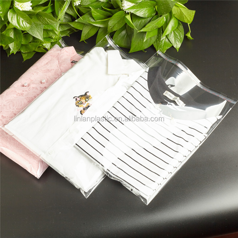 Factory price transparent opp self adhesive bag for packaging garment clothing