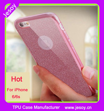 JESOY Soft Electroplate TPU Silicone Glitter Mobile Phone Back Case For iPhone 6 6s