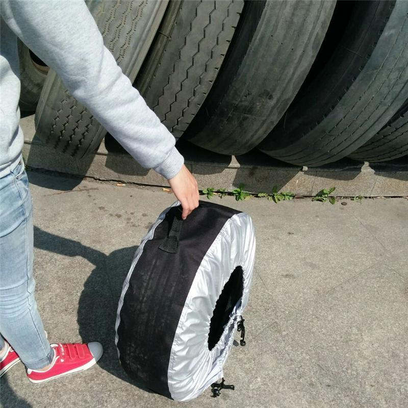 Plastic rainproof tyre covers/car tire bag made in Chinawith free samples