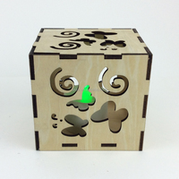 custom puzzle samll wood box wood candle box
