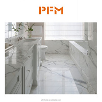 Natural Low price polished calacatta Italian marble bathroom floor tiles