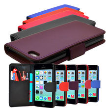 2014 New arrival hot sell design flip PU leather mobile phone case for iphone5C
