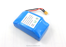 Safety lithium ion rechargeable battery pack for electric scooter