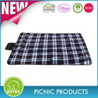 100% polyester Large cashmere picnic rug outdoor camping blanket picnic blanket