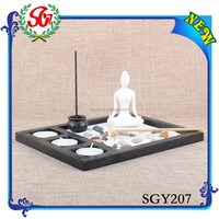 SGY207 Gift Craft Candle Holder,Art And Craft For Wooden Materials Gifts Of Zen Garden