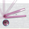 Foldable ruler,custom plastice ruler,making plastic ruler