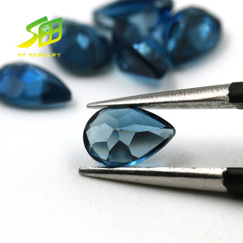 wholesale natural pear shape london blue sapphire gems earing