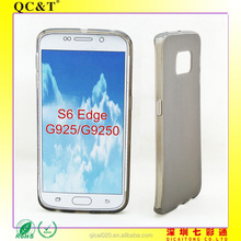 Hot sale soft gel case cover for samsung galaxy S6 edge G925 on CHina alibaba