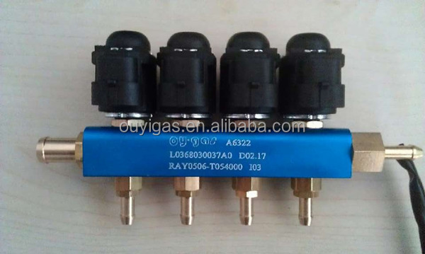2014 new type lpg/cng injector rail/lpg cng injector