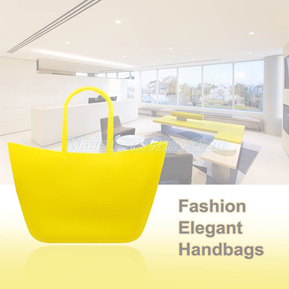 2016 New Unique Design High Quality Women's Fashion Silicone Waterproof Beach Bag For Girl / Ladies Handbags