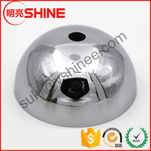 150mm Stamping hemisphere large metal half round balls with hole for lamp fittings