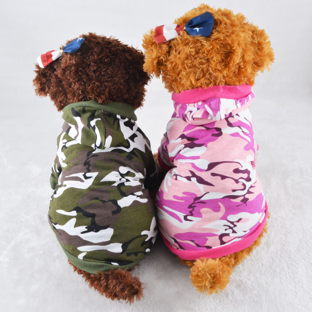 Cheap Dog Clothing Chihuahua,Casual Camouflage Dog Garment