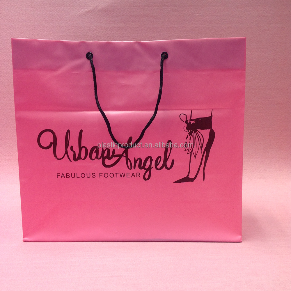 Customer Design Rope Handle Plastic Shopping Bag
