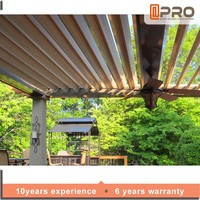 Aluminium Outdoor Patio Louver Motorized Opening Roof