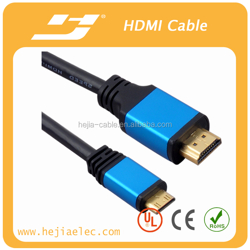 Aluminum assembled Glod plated High Speed HDMI Cable A TO C 2.0V Support 3D,4K*2K,1080P