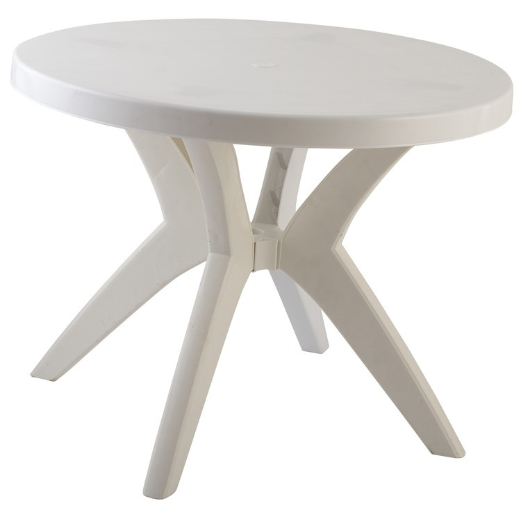 small round outdoor foldable plastic garden table and chairs