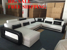 Free shipping creative sectional black and white sofa <strong>modern</strong>