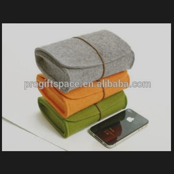 high quality new fashion fancy custom polyester felt 3D mobile phone accessories case wholesale manufacturer in China