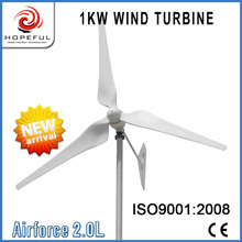 New type Airfore 2.0L 1kw 48v ac wind generators single tail off-grid system make in China