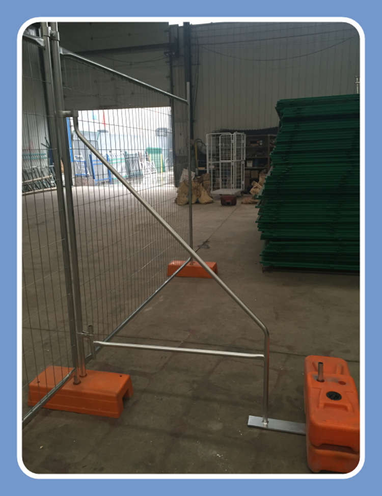 high quality strong temporary fence brace galvanized temp fence stays galvanised temporary fence brace