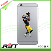 OEM design NFL rugby ball player printing soft tpu cell phone cases for iphone 5 5s 6 6s