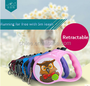 Lovely pet leash/Retractable dog leash with 5m L
