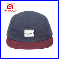 RZWOLF new fashion custom 5 panel cotton blank flex fit caps