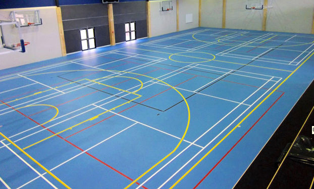 indoor multi-court sport facilities surface SI-PU materials