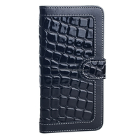 Luxury mobile phone wallet leather case cover for iPhone 6 plus
