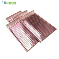 YTBagmart Postal Courier Express Shipping Mailing Rose Gold Plastic Poly Bubble Mailer