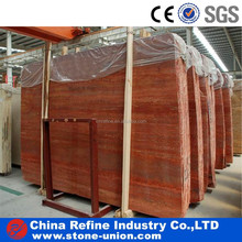 High quality Red Travertine slab for sale