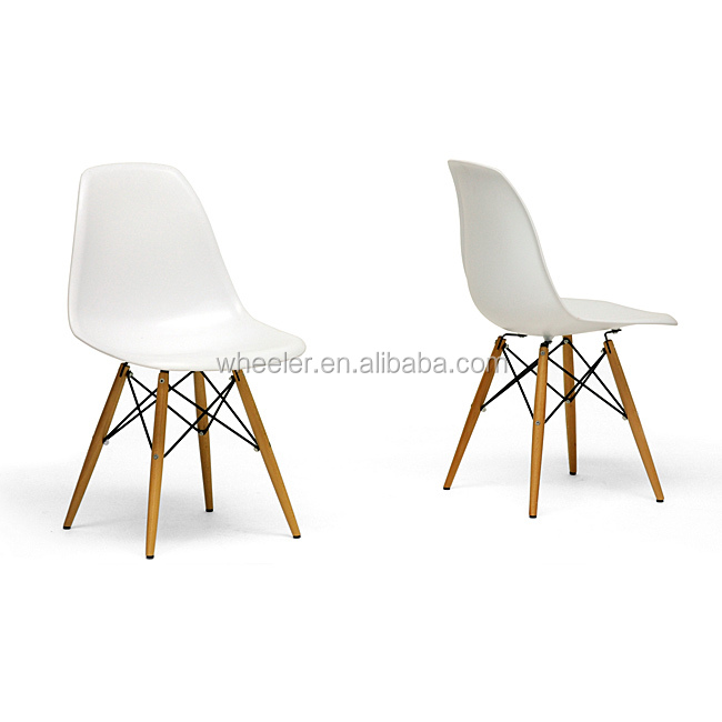 Hot selling Wood Leg White Accent Chairs