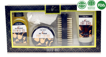 2017 promotional bath spa gift set for man with sandalwood fragrance