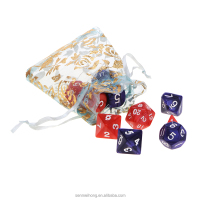 cheap marble arylic 4 6 8 10 12 20 sided polyhedral dice set