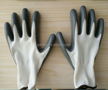 China manufacturers products wholesale price 13 gauge polyester oil nitrile coated industrial top hand safety working gloves