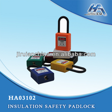 Manufactor brass cylinder ABS body key code tracking safety padlock